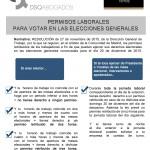 Permisos laborales para votar en las elecciones generales (infografía)